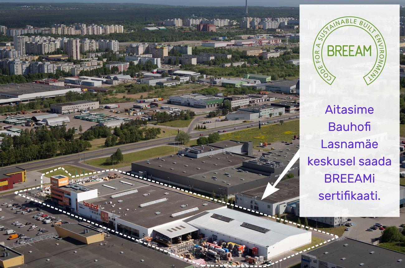 Peterburi tee Bauhof sertitseeriti Tepsli poolt BREEAMiga. Foto: Andres Tarto