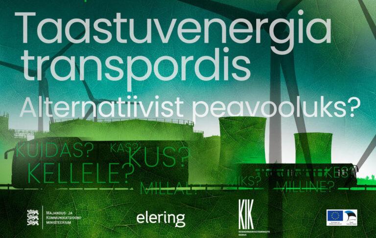 """Jagame sõna: 30.09 toimub seminar """"Taastuvenergia transpordis. Alternatiivist peavooluks"""""""